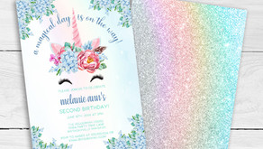 Magical Unicorn Birthday Party Invitation Ideas