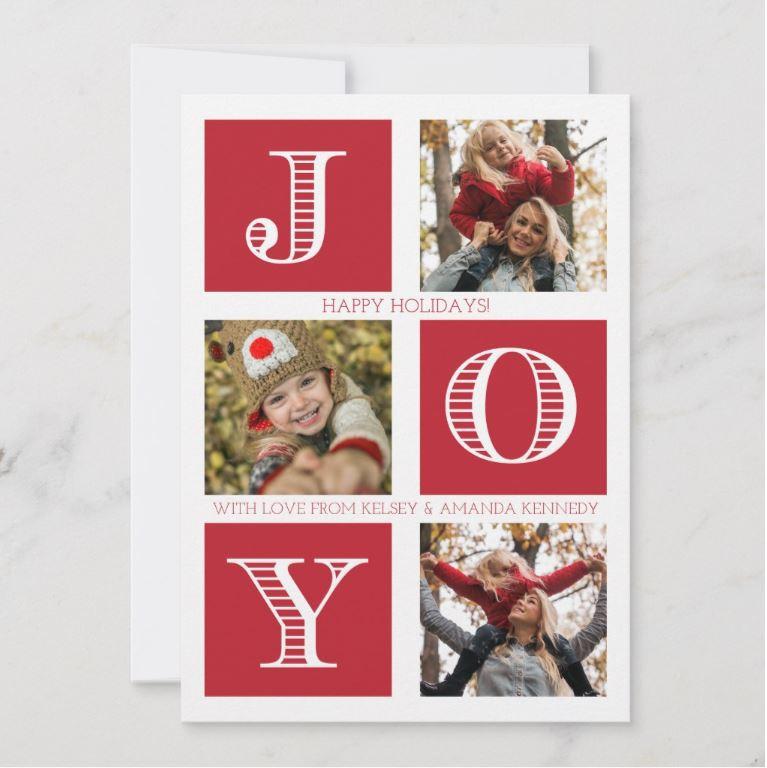 Joy Holiday greeting card