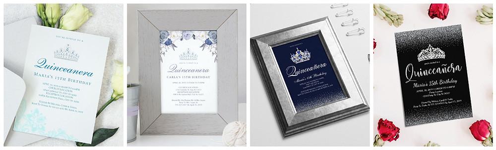 Elegant Quinceanera Invitations