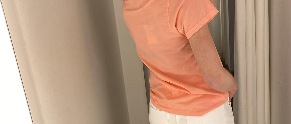 T shirt peche Colorful Standard 40441