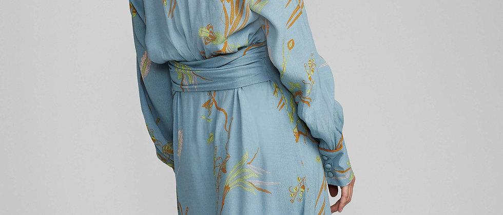 Kleedje print Numph l Blauw 39582