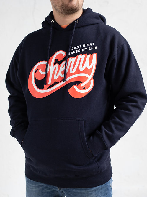 CHERRY NAVY HOODIE