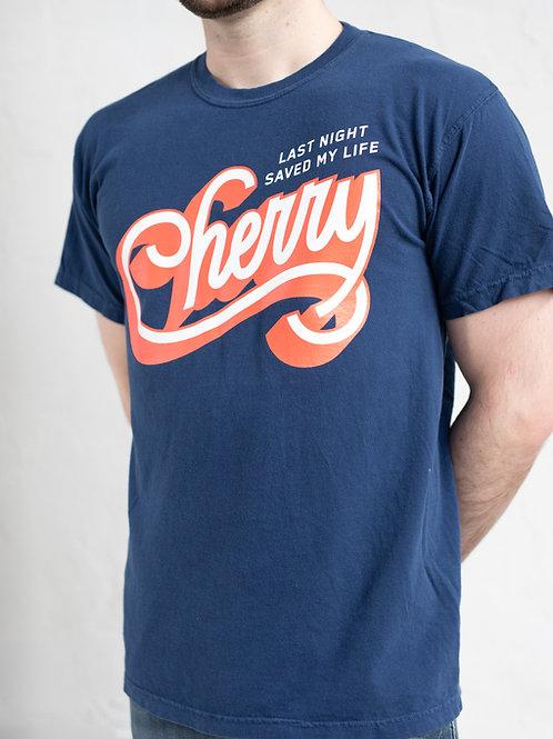 CHERRY NAVY TEE
