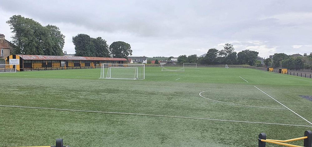 Barrfields Stadium, taken from the top entrance to the pitch.
