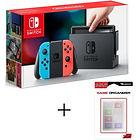 [CDAV] Nintendo Switch avec paire de Joy-Con bleu/rouge + Boitier de rangement pour 16 jeux