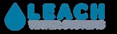 Leach Water Systems Logo Eureka, Ca, Humboldt County. Blue water drop logo designed by Layla Ann Lugo