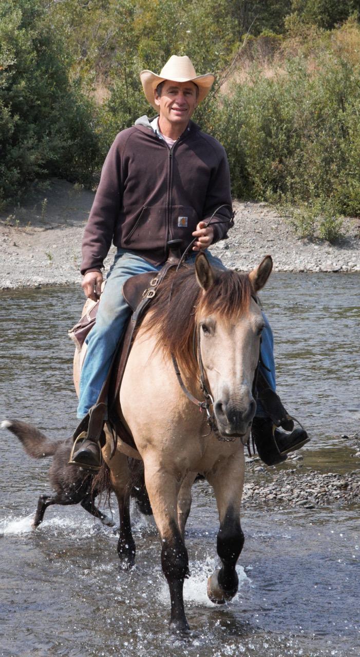 Michael Evenson on Horseback