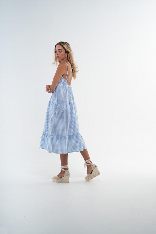 Julieta Dress - Vichy Light Blue