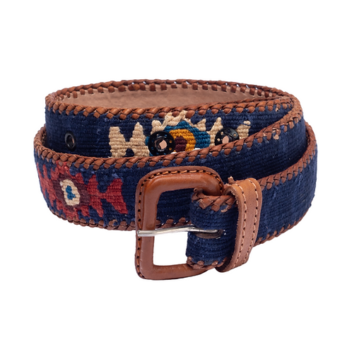 Dark Blue Mexican Belt