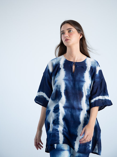 Alicia Blue Tye Dye Blouse