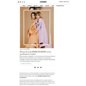 VANIDAD - Firmas de moda Made In Spain con las que llenar tu vestidor