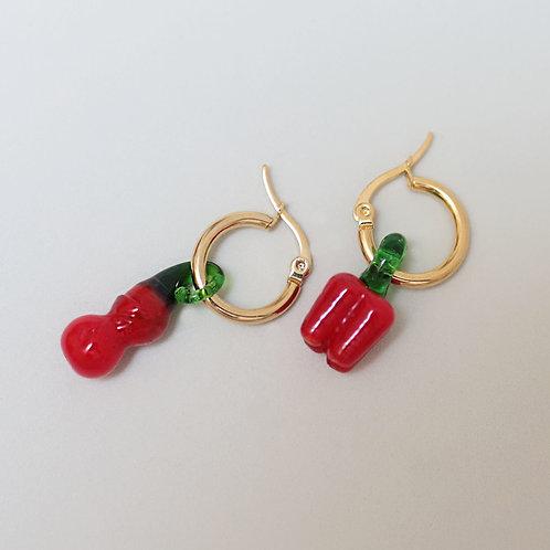 Red Pepper Hoops