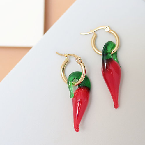 Red Chilli Hoops - Big