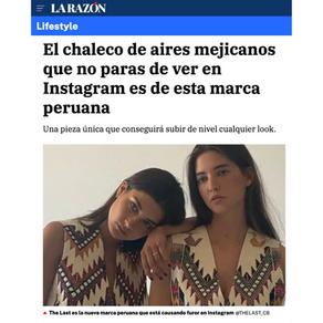 LA RAZÓN - El chaleco de aires mejicanos que no paras de ver en Instagram es de esta marca peruana