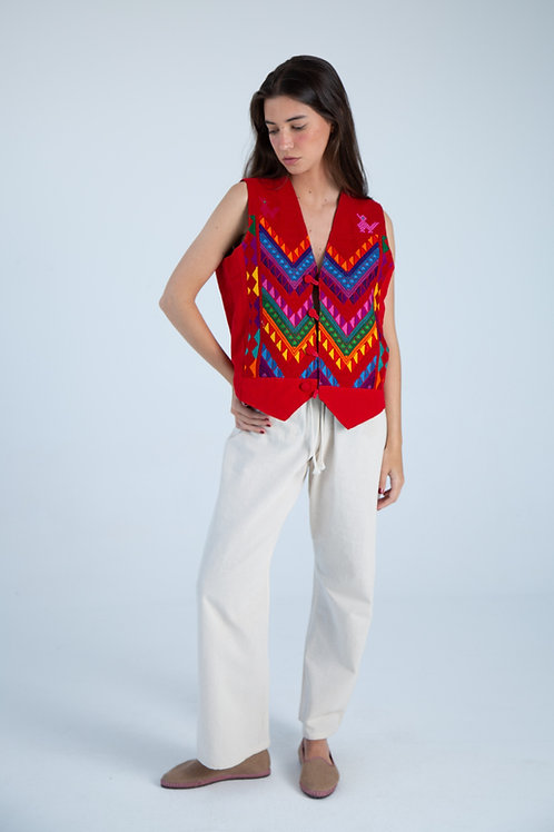Mexican Vest - Red