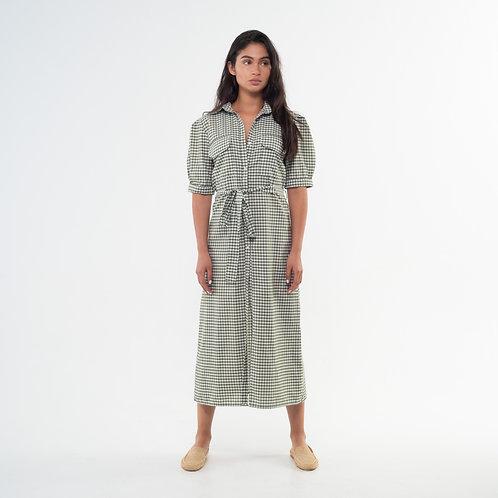Lefi Dress - Vichy Green