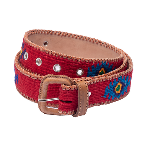 Red and Blue Mexican Belt