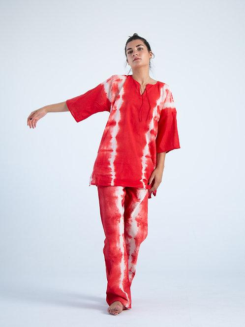 Guillermo Red Tye Dye Pants