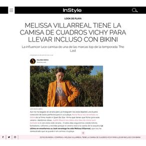 IN STYLE - Melissa Villareal tiene la camisa de cuadros vichy para llevar incluso con bikini