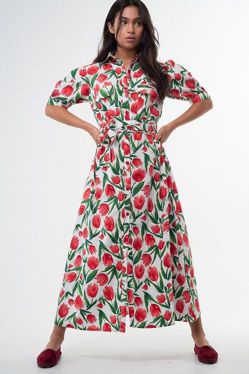 Lefi Dress - Tulips