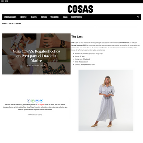 Guía COSAS: Regalos hechos en Perú para el Día de la Madre