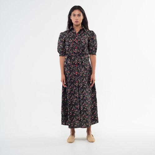 Lefi Dress - Flowers Black