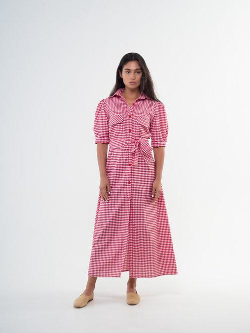 Lefi Dress - Vichy Red