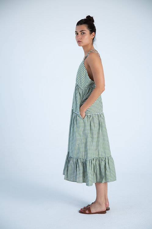 Julieta Dress - Vichy Green