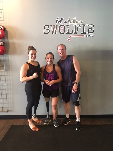 Erin, my dad and I at Title Boxing Nashville this past weekend!