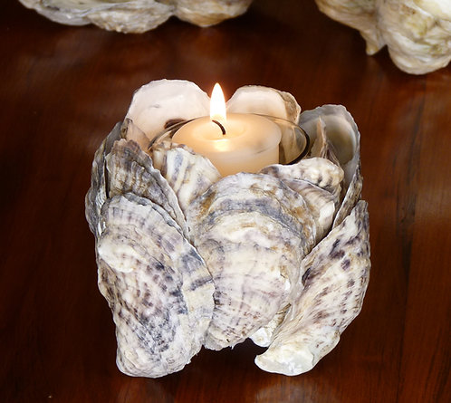 Copper Beach Oyster Candle Holder
