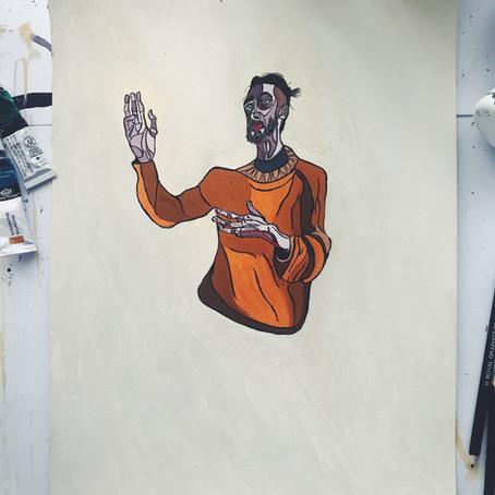 Self Portrait in Orange Jumper