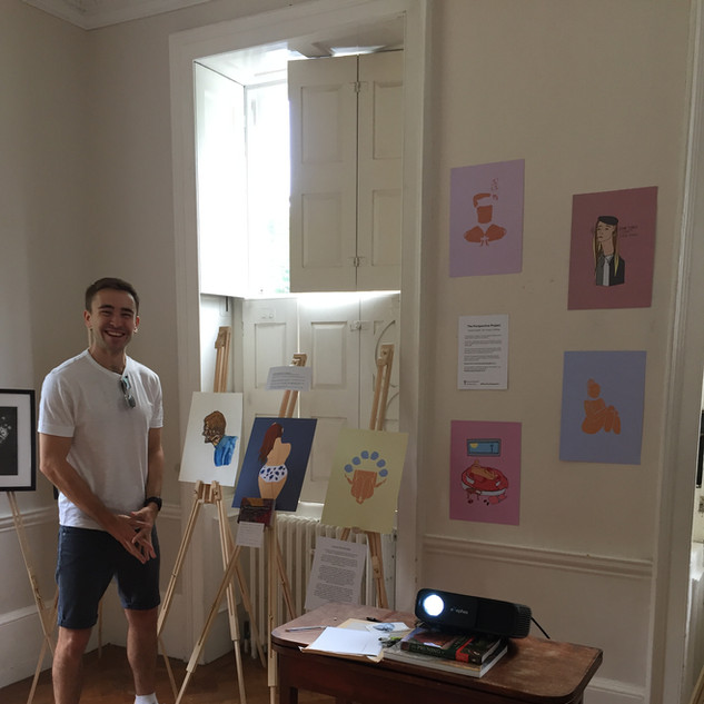 The Perspective Project founder Mark in the exhibition room.