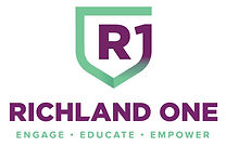 Richland One Logo with an R1 in the shape of a shield.