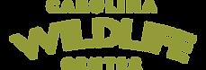 Carolina Wildlife Center logo written in green.
