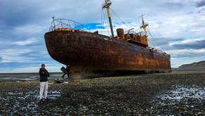 Visitar el Desdémona, el barco abandonado en Cabo San Pablo