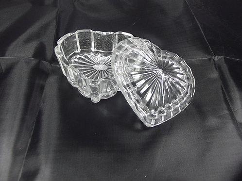 Godet verre cœur heart glass jar