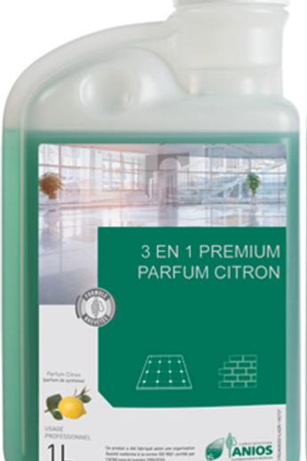 3 en 1 Premium A Nettoyant Désinfectant Sol et Surface 1L