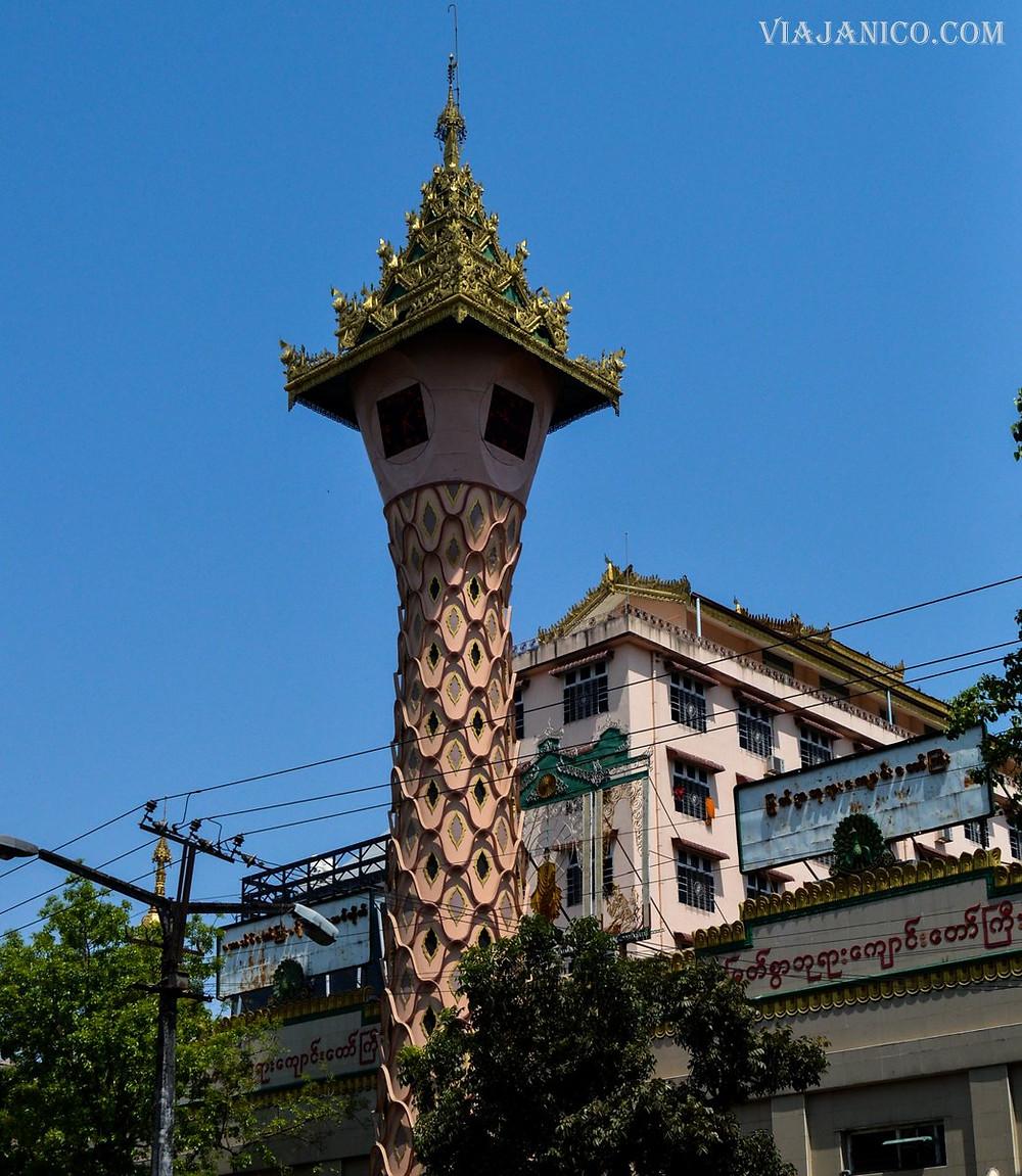 Myanmar, clock tower.