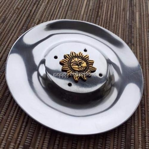 Aluminum Plate Incense Burner Sun