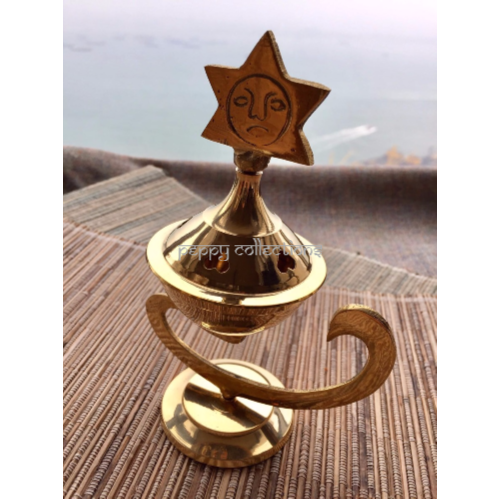 Brass Incense Cone Burner - Star