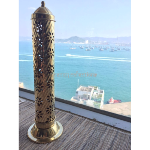 Brass Incense Stick & Cone Tower Burner