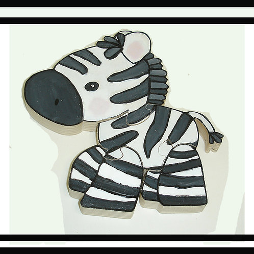 Zebra Hand Painted Wooden 3d Jigsaw Puzzle