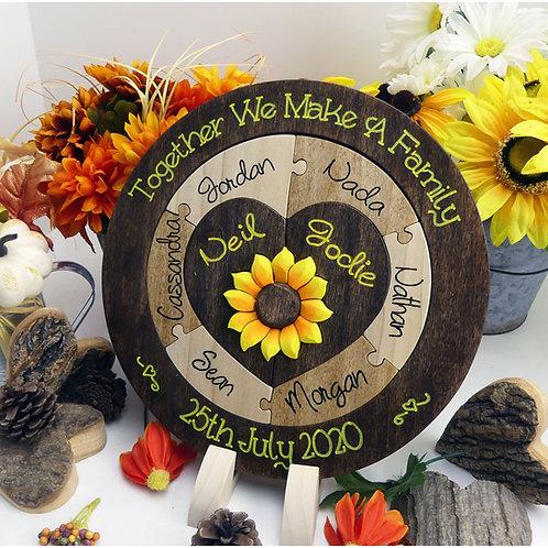 Custom Designed Wedding Puzzle for Unity Ceremony