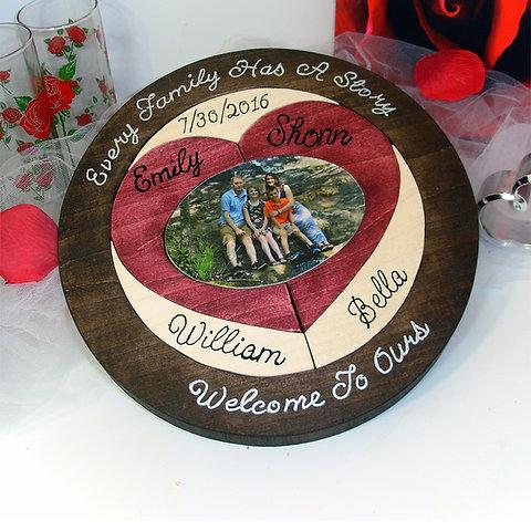 Custom Designed Blended Family Wedding Puzzle