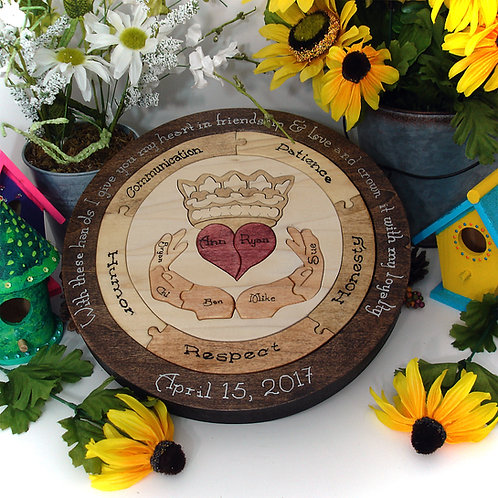 Unity Ceremony Wedding Puzzle Custom Personalized