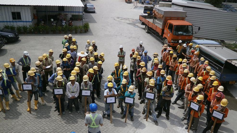 Safety orientation on site