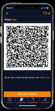 QR code scherm