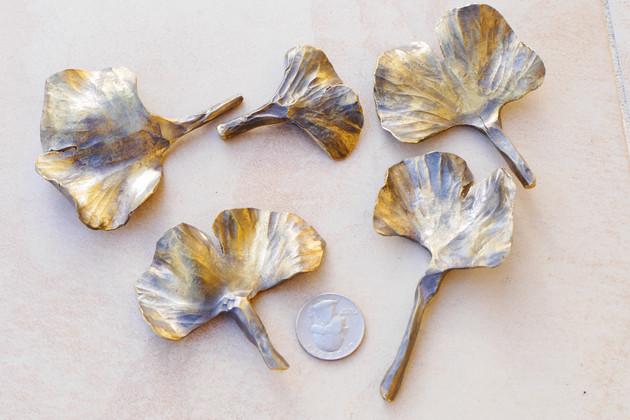 Brass Gingko Leaves - 2018