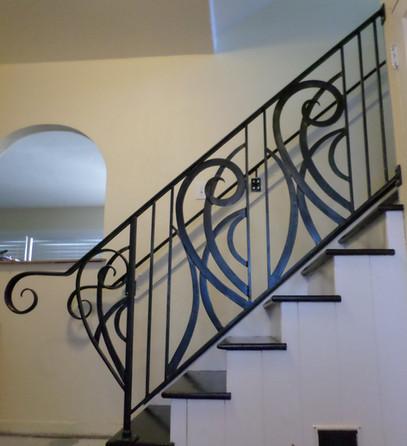 Scrolled Stair Rail