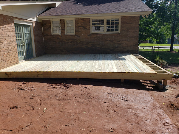 Almost Finished New Deck Addition